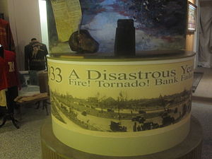 Dorcheat Historical Association Museum - 1933 was a disastrous year in Minden: bank failure, fire, tornado.