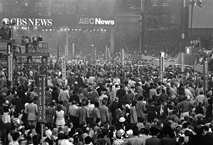 1972 Democratic National Convention - View of the convention in action.