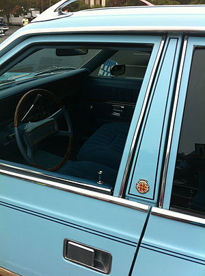 Pillar (car) - Image: 1978 AMC Concord DL wagon blue 2014 AMO NC 16