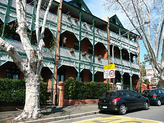 Victoria Street, East Sydney - Terraced homes in Federation Filigree style