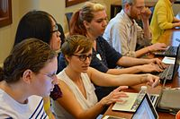 1 CJH Women in Jewish History Editathon May 4 2012.JPG