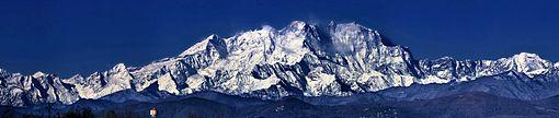 il Monte Rosa, il massiccio più esteso delle Alpi