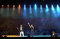 201000 - Opening Ceremony Yothu Yindi perform 3 - 3b - 2000 Sydney opening ceremony photo.jpg