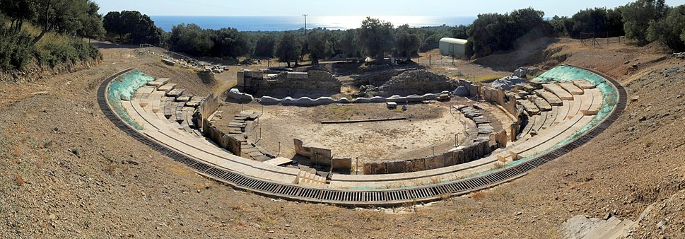 20100913 Ancient Theater Marwneia Rhodope Greece panoramic 2