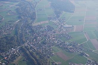 Bätterkinden - Aerial view of Bätterkinden