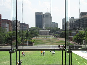 Independence Mall (Philadelphia) - Independence Mall in 2012, looking south from the National Constitution Center.