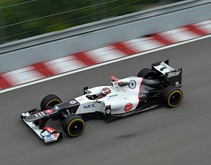 2012 Canadian Grand Prix Kamui Kobayashi Sauber C31.jpg