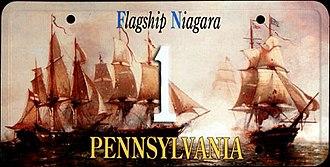 USS Niagara (1813) - Flagship Niagara license plate