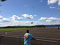 2014-08-24 15 05 45 Skydivers parachuting to the ground at Pennridge Airport in East Rockhill Township, Pennsylvania.JPG