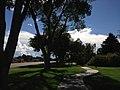 2014-09-21 14 41 41 Walkway along Idaho Street (Interstate 80 Business) in the main city park of Elko, Nevada.JPG