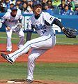 20140316 Daisuke Miura, pitcher of the Yokohama DeNA BayStars, at Yokohama Stadium.JPG