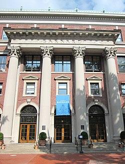 The facade of Barnard Hall