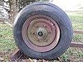 2018-01-28 (125) Old Semperit 6.50 R 16 tire on trailer near Groß-Brandgraben in Kirchberg an der Pielach.jpg