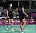 2018-10-12 Badminton Mixed International Team Final match 1 at 2018 Summer Youth Olympics by Sandro Halank–017.jpg