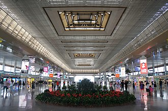 Nanjing South Railway Station 201806 Departure Floor of Nanjingnan Station.jpg