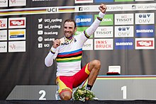20180930 UCI Road World Championships Innsbruck Men Elite Road Race Alejandro Valverde 850 2220.jpg
