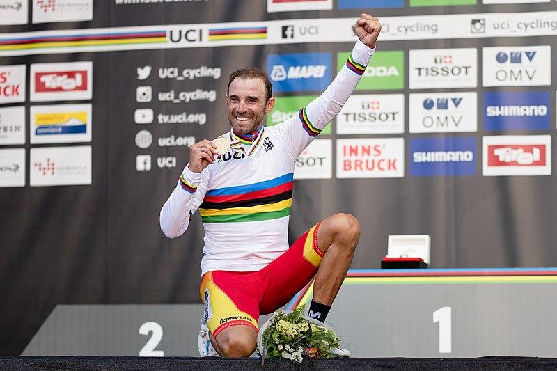 800px 20180930 UCI Road World Championships Innsbruck Men Elite Road Race Alejandro Valverde 850 2220 Alejandro Valverde. Nunca es tarde, todo llega...