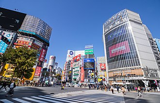 Shibuya - Shibuya scramble crossing