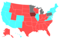 2020 United States House of Representatives Election by Change in the Majority Political Affiliation of Each State's Delegations From the Previous Election.png