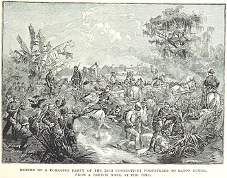 24th Connecticut Infantry Regiment - A foraging party of the 24th returns to Baton Rouge
