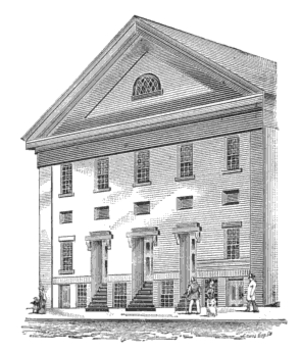 Hosea Ballou - Second Universalist Church, School Street, Boston; built 1817