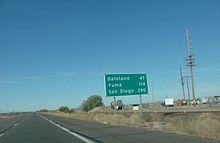 Interstate Wikipedia - Old us 80 arizona map