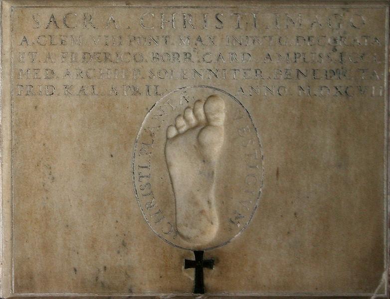 File:3676 - Milano, San Tomaso - Impronta di Gesù -1597- - Foto Giovanni Dall'Orto 22-Jun-2007.jpg