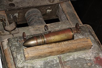 37 mm trench gun M1915 - Image: 37 mm K 15 Rosenberg shell