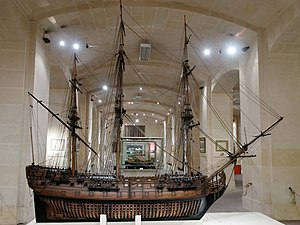 Malta Maritime Museum - Model of a third-rate ship of the navy of the Order of Saint John