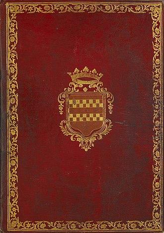 Très Riches Heures du Duc de Berry - Cover of the bound manuscript