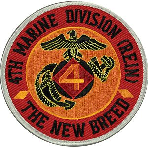 4th Marine Division (United States) - Post-1966 4th Marine Division Patch