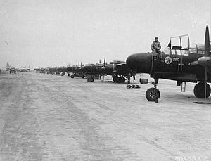 548th Combat Training Squadron - 548th NFS Black Widows on the line at Central Field, Iwo Jima