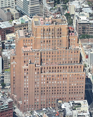 60 Hudson Street - View of 60 Hudson Street from One World Observatory