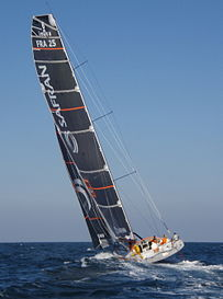 Racing yacht, Safran, in 2007