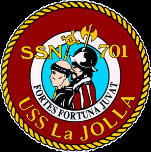 USS La Jolla - Image: 701insig