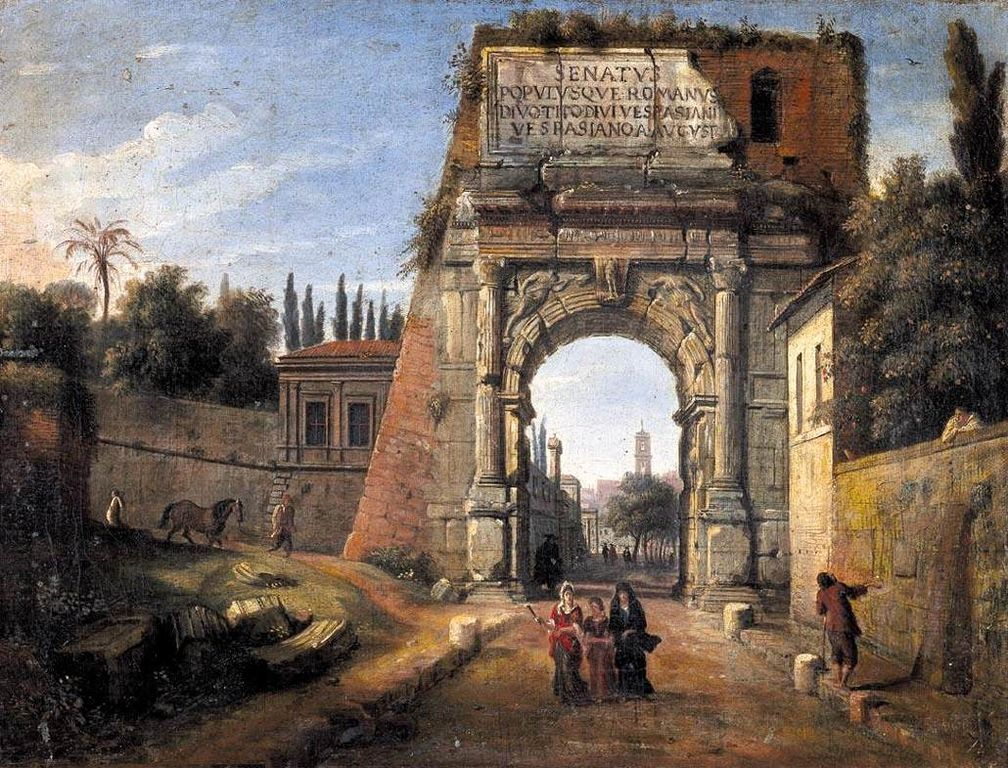 https://upload.wikimedia.org/wikipedia/commons/thumb/c/c2/7_Rome_View_of_the_Arch_of_Titus.jpg/1008px-7_Rome_View_of_the_Arch_of_Titus.jpg