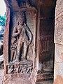 7th century Dvarapala in Cave 2, Badami Hindu cave temple Karnataka 1.jpg