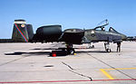 A-10A 78-0675 CN 295 marked as 354th CC plane To AMARC 27 Aug 1992.jpg