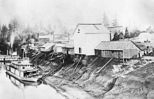 James D. Miller - Steamer A.A. McCully, on the Yamhill River at Dayton, Oregon