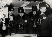 A.O.J Falkman, Gösta Ehrensvärd, B. Bertelsson and Helge Strömbäck in 1939