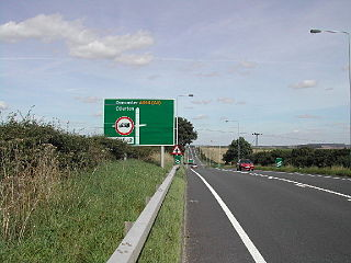 A614 road road in England