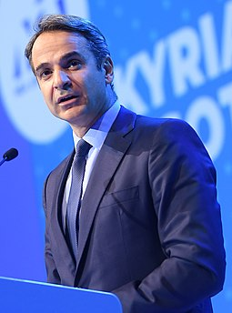 Kyriakos Mitsotakis, Prime Minister since 2019 AAA 2108 (45718115542) (cropped).jpg