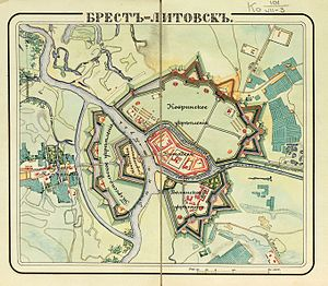 Brest Fortress - The fortress in the 1830s
