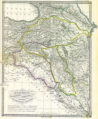 Armenians - Armenia, Mesopotamia, Babylonia and Assyria with Adjacent Regions, Karl von Spruner, published in 1865.