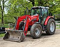 A Massey Ferguson front loader tractor in the Woodyard at Wollaton Park, Nottingham, England.jpg