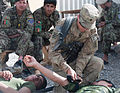 A U.S. Soldier, right, with Charlie Troop, 6th Squadron, 8th Cavalry Regiment, 4th Infantry Brigade Combat Team, 3rd Infantry Division teaches Afghan National Army soldiers with the 1st Tolai, 1st Kandak, 4th 130522-Z-QE403-188.jpg