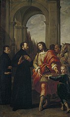 Saint Gaetano Refuses Offerings from Count Antonio Caracciolo d'Oppido