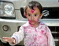 A child celebrating Holi, in New Delhi on March 11, 2009 (1).jpg