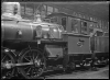 A class steam locomotive, NZR number 415 showing the wind screen, at the Petone Railway Workshops ATLIB 274599.png
