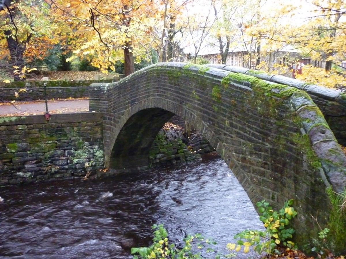 A footbridge over the River Colne, Marsden - geograph.org.uk - 2146287.jpg